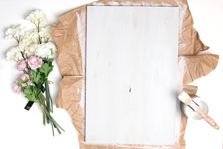 DIY Fadenbild mit Frühlingsblumen