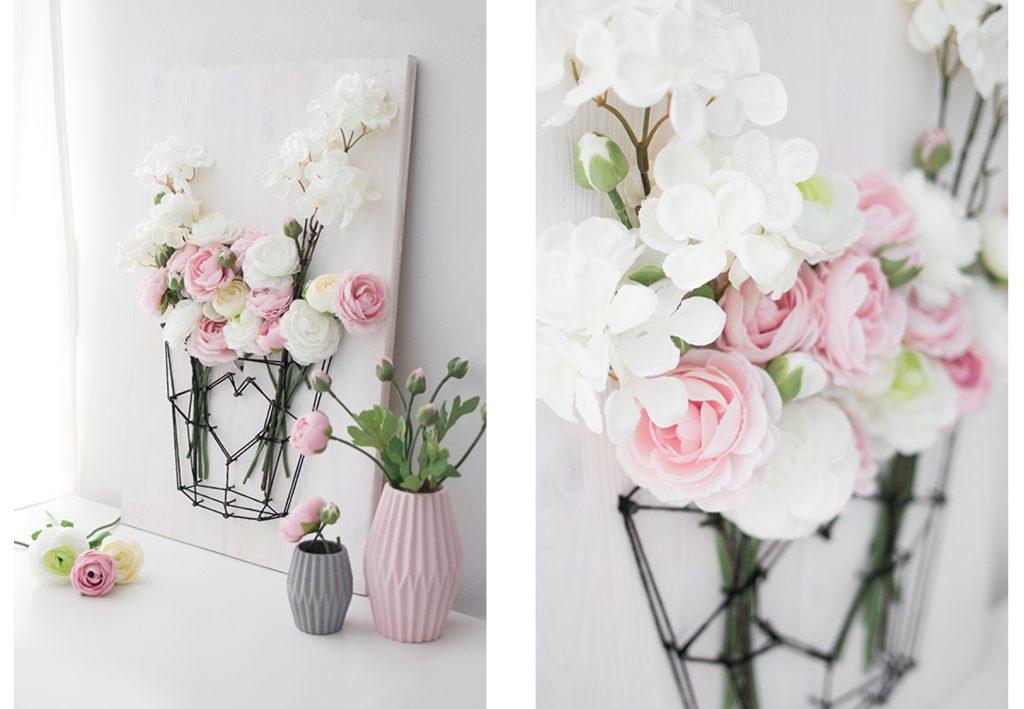 Depot Fadenbild mit Frühlingsblumen 20