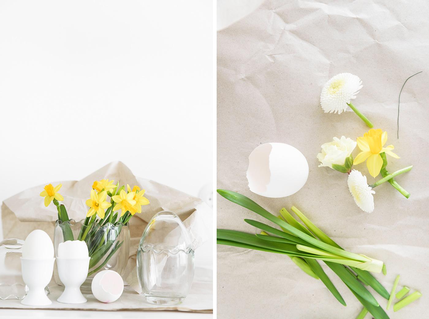 Blumendeko für Ostern