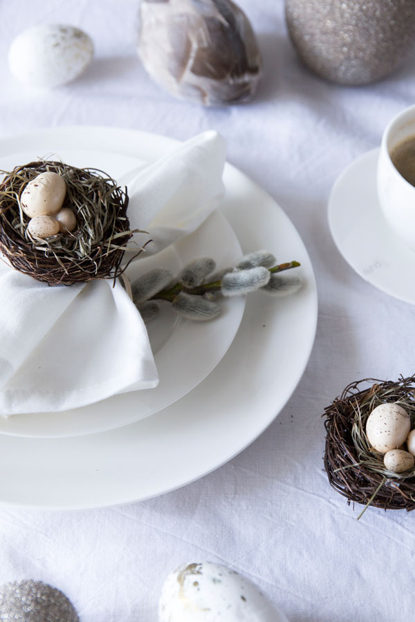 Tischdeko an Ostern