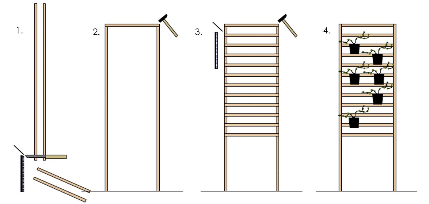 Eine Rankhilfe für den Balkon selber bauen.