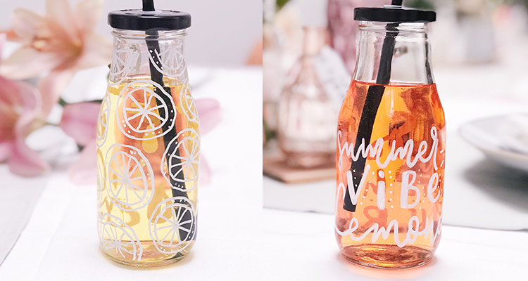 Handlettering Glasdesign