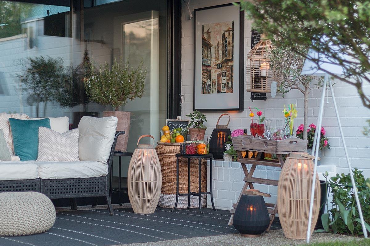 Prosecco Bar selbermachen auf der Terrasse