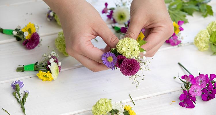Blumenkranz Haare