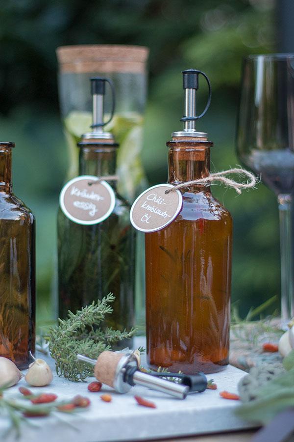Geschenkidee: Chili-Knoblauch-Öl selbstgemacht