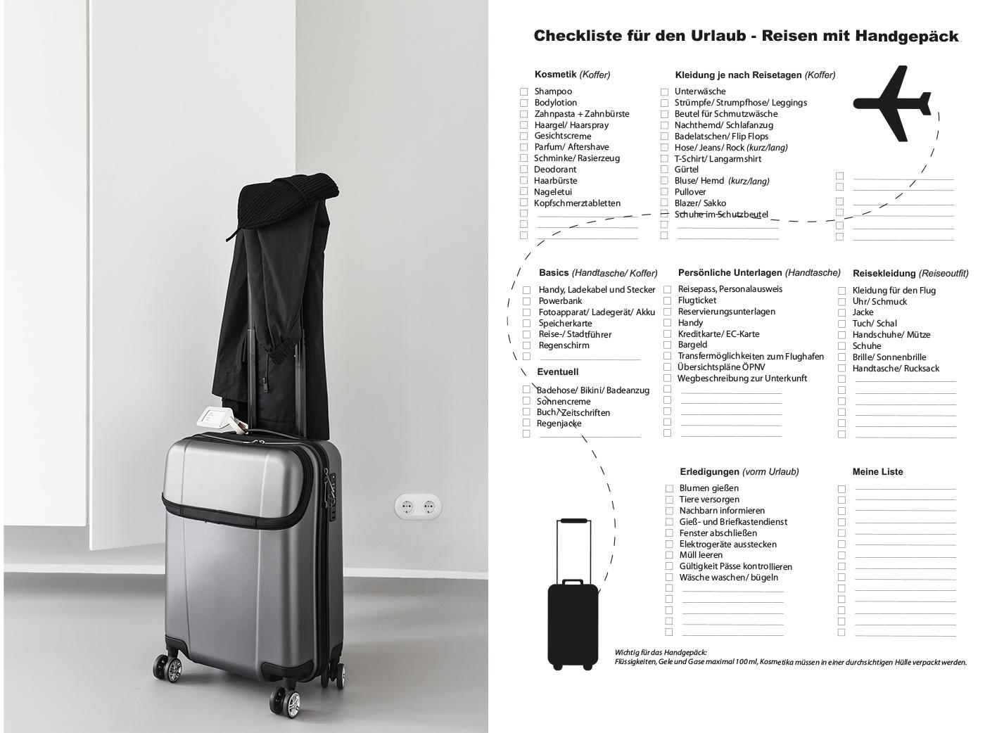 Wie packe ich meinen Koffer? Checkliste für den Urlaub!
