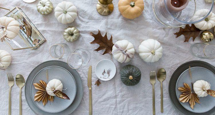 Thanksgiving Tischdeko In Weiss Gold Schon Bei Dir By Depot