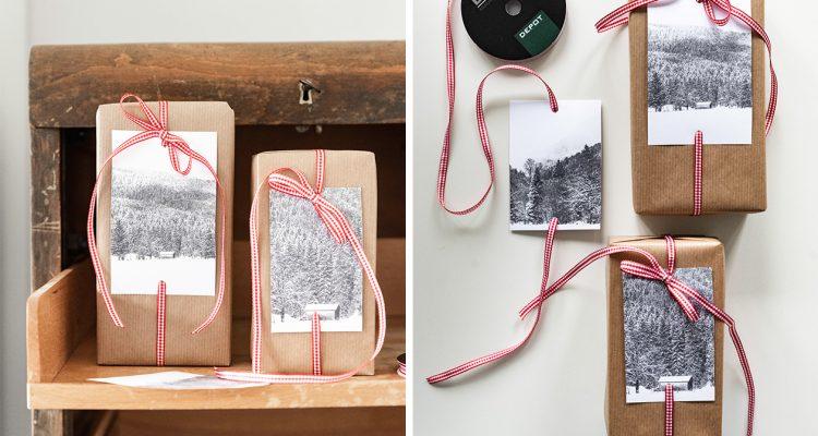 Weihnachtsgeschenke verpacken - fünf Ideen in Rot-Weiß