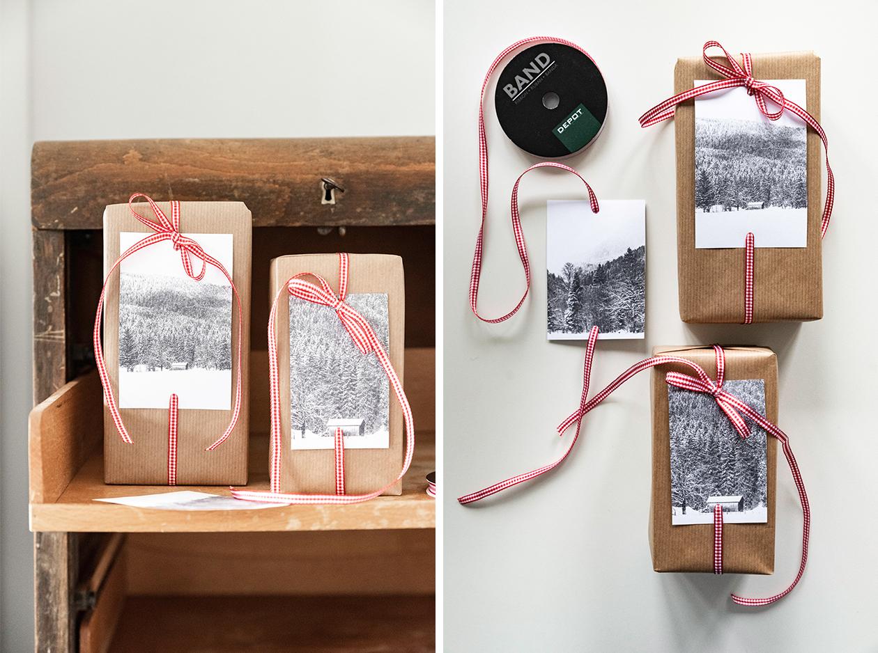 Weihnachtsgeschenke verpacken - Rot-Weiß