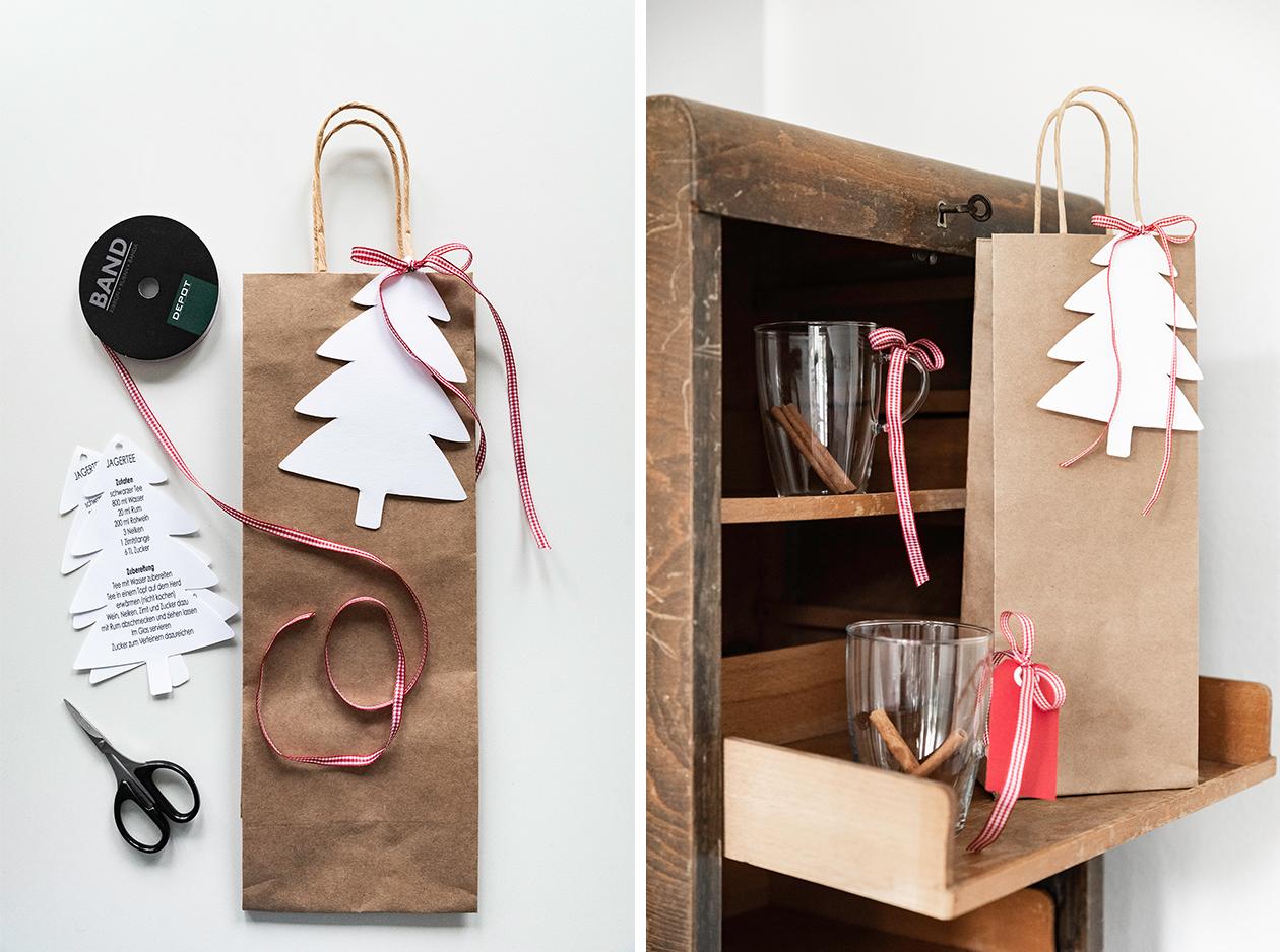 Rezeptidee für Weihnachten: Jagatee - Weihnachtsgeschenke verpacken