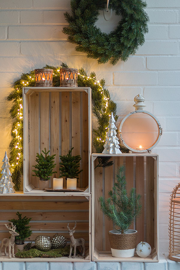 weihnachtliche terrassendeko mit weinkisten sch n bei dir by depot. Black Bedroom Furniture Sets. Home Design Ideas