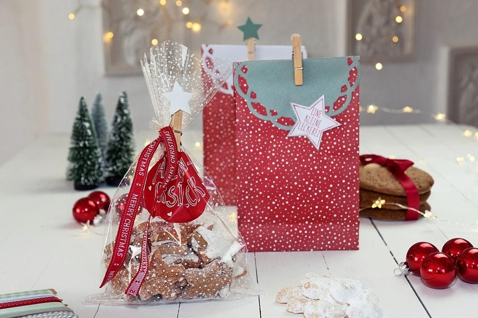 Weihnachtsplätzchen hübsch verpacken