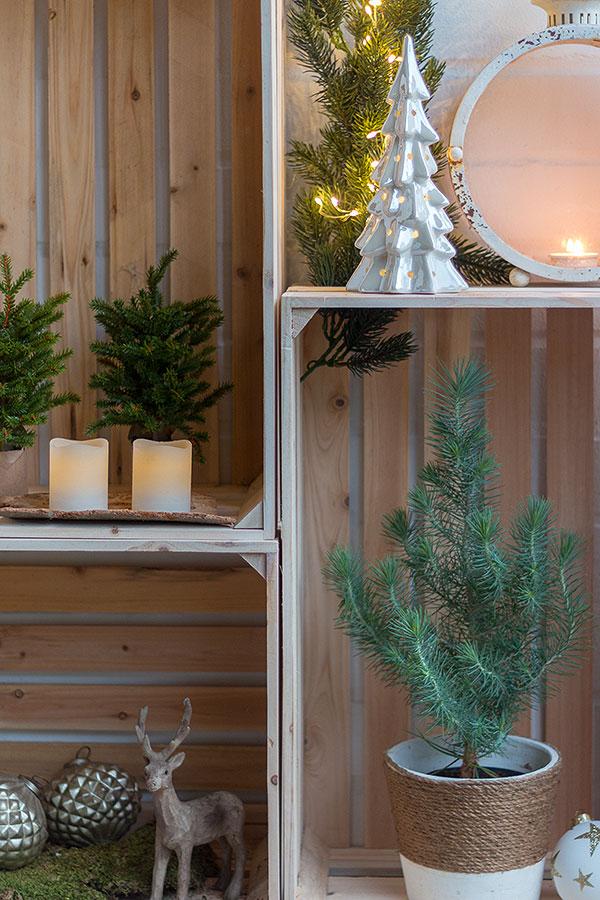 weihnachtliche Weinkistendeko