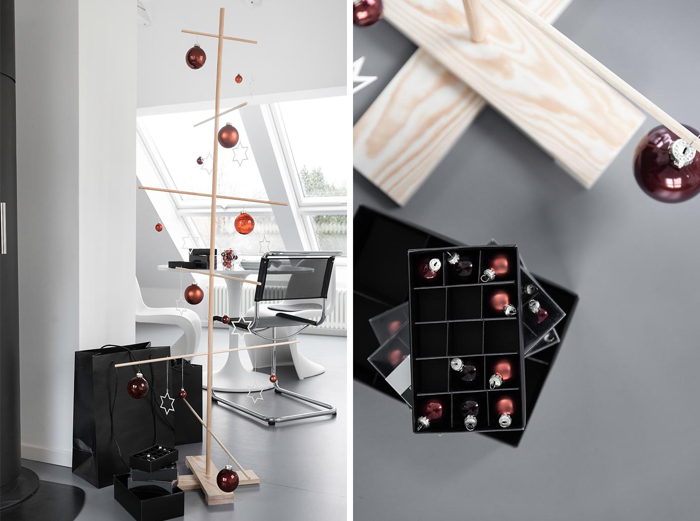 Ein Weihnachtsbaum aus Rundhölzern selber bauen