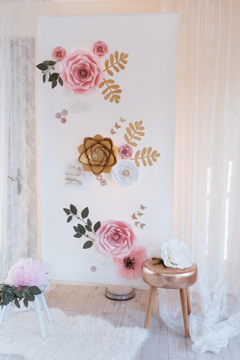 Blumenwand für Hochzeit -, Geburtstag- oder Baby-Party