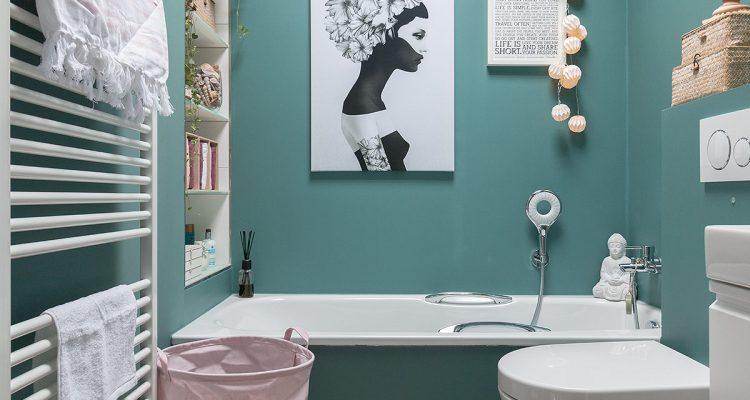 Frühlingshaftes Bad in tuerkis und rosa | Schön bei dir by DEPOT