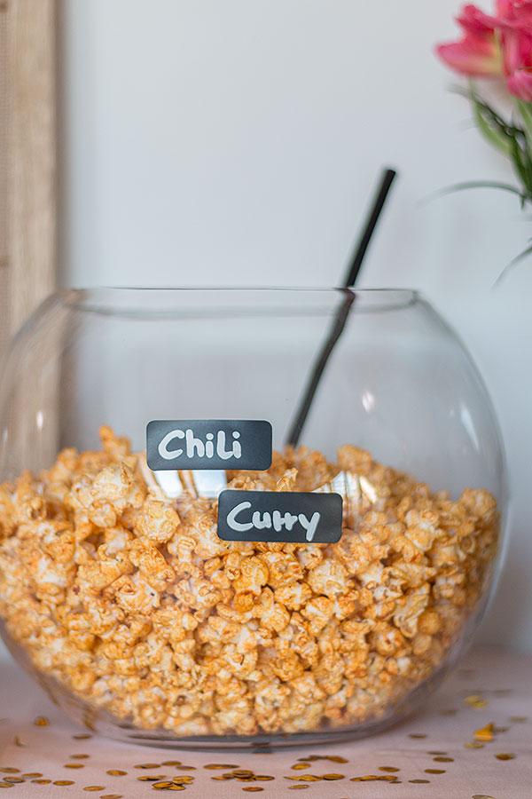 Chili Curry Popcorn Rezept für Popcorn Bar