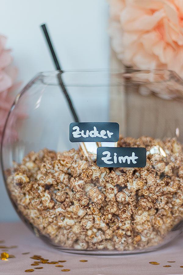 Zucker-Zimt-Popcorn Rezept für Popcorn Bar