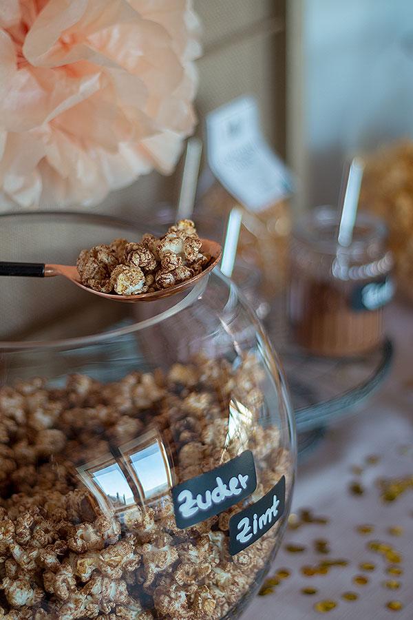 Zucker-Zimt-Popcorn selbermachen- für Popcorn Bar