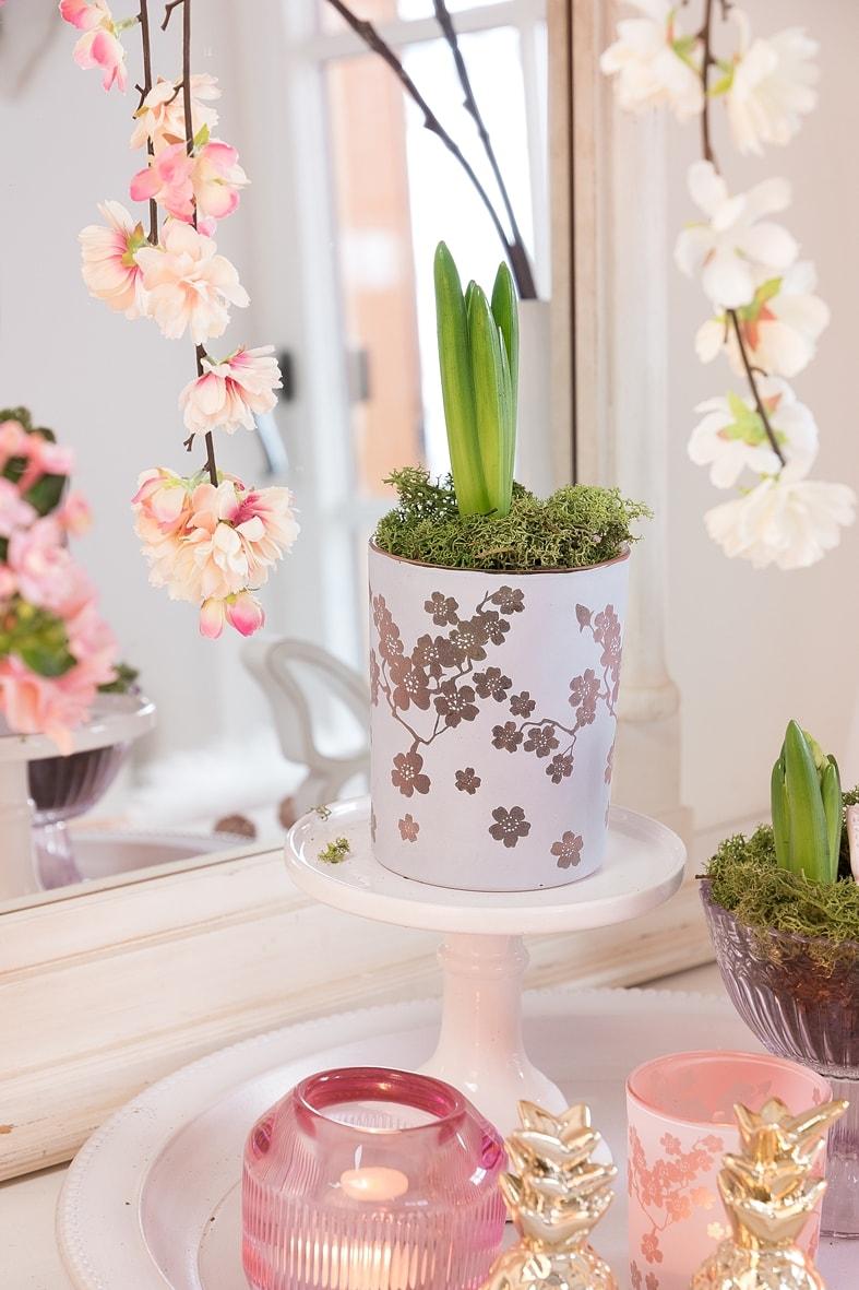DIY - Dekotablett für den Frühling.