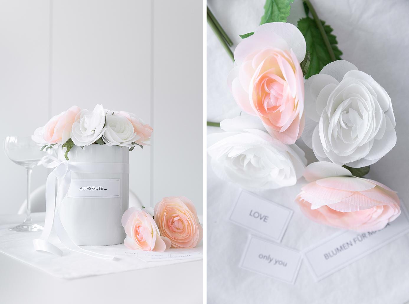 DIY Flowerbox mit Papieretiketten zum Ausdrucken