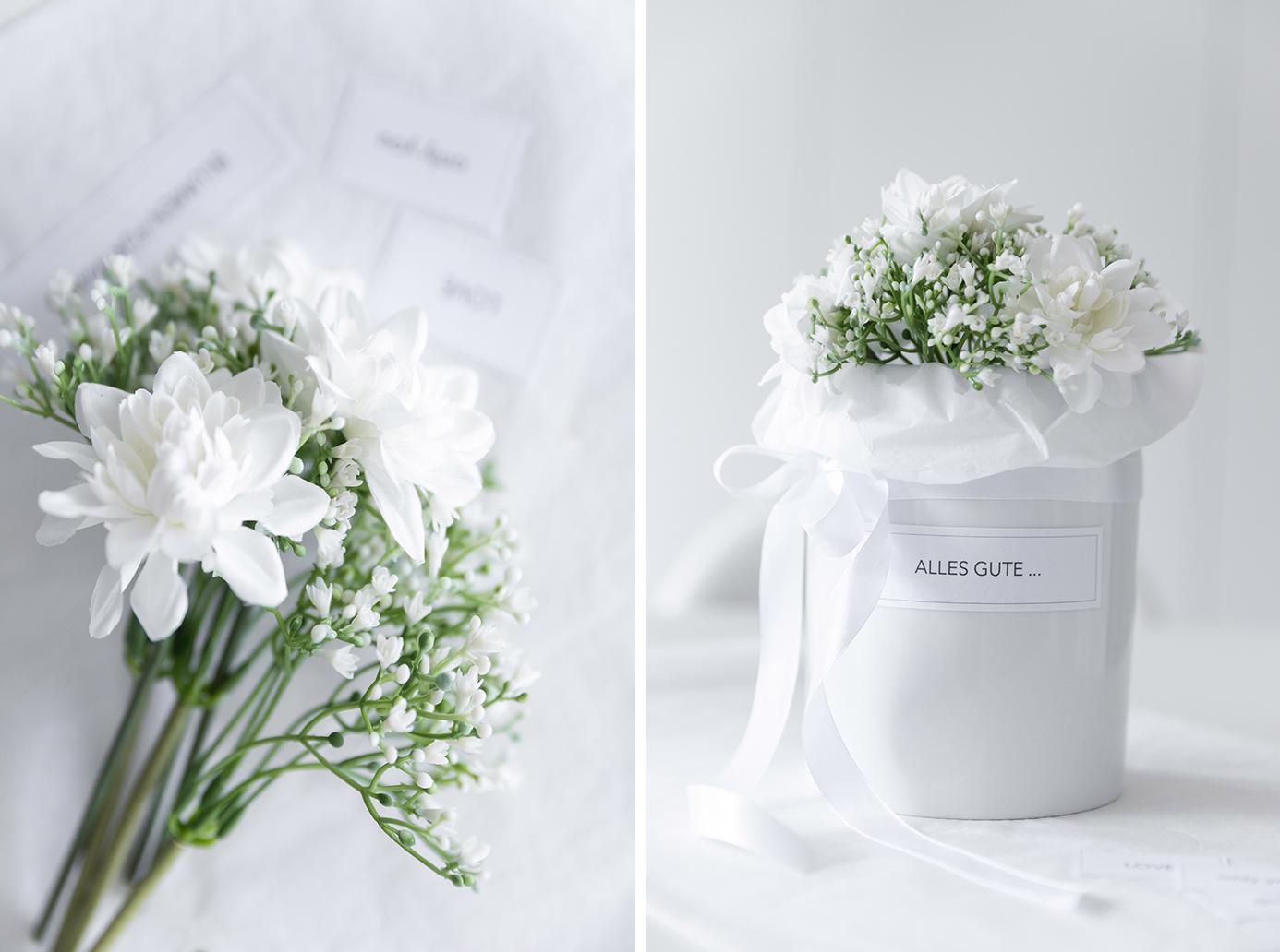 DIY Blumenschachtel im Zylinder
