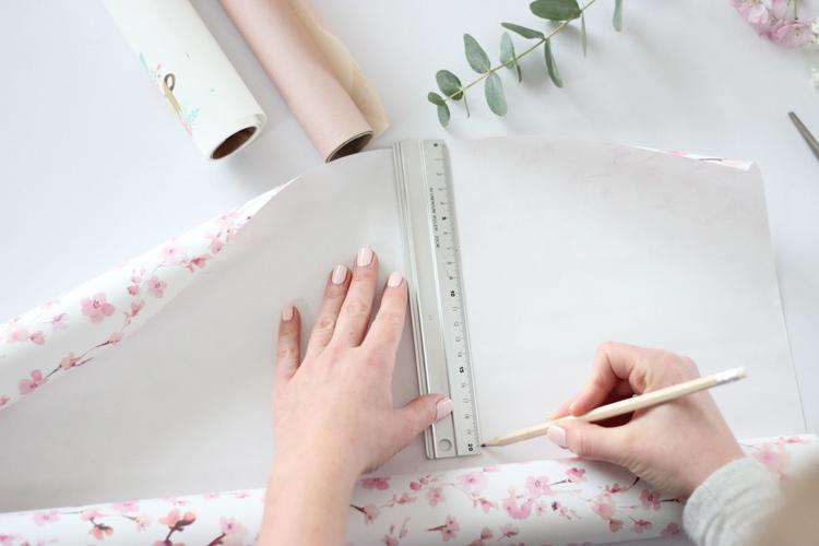 Blumentasche Papier zuschneiden
