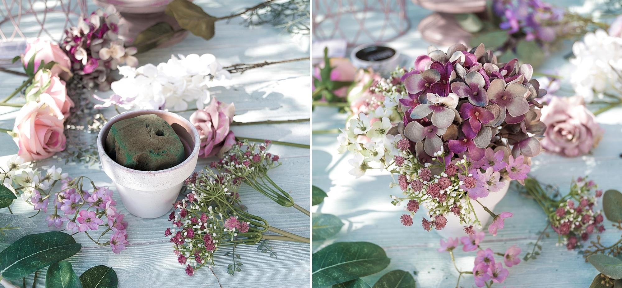 Blumenbouquet aus Kunstblumen fertigen