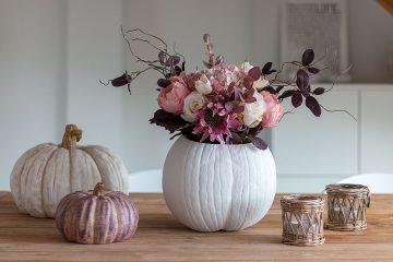 DIY Herbstdeko - Kürbis als Vase