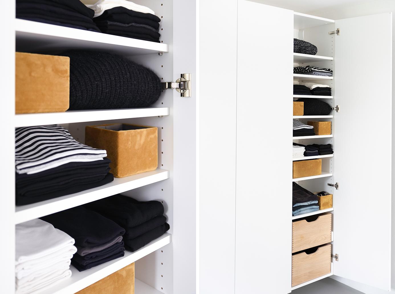 Samtboxen sind Ordnungshüter für den Kleiderschrank.