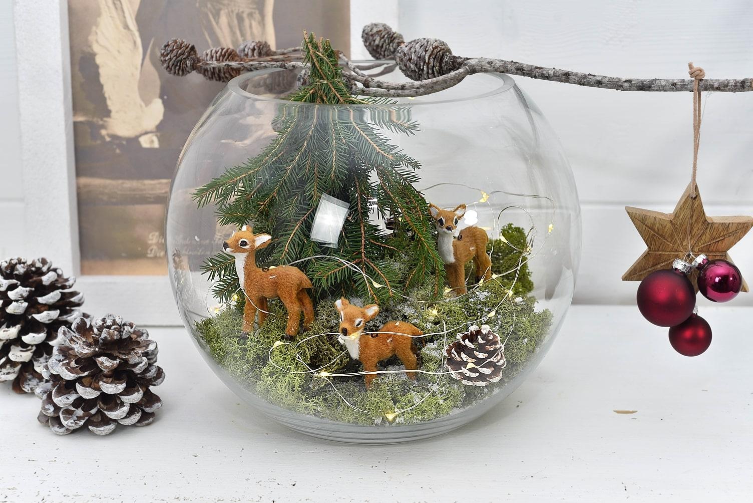 Weihnachtsdekoa aus Naturmaterialien.