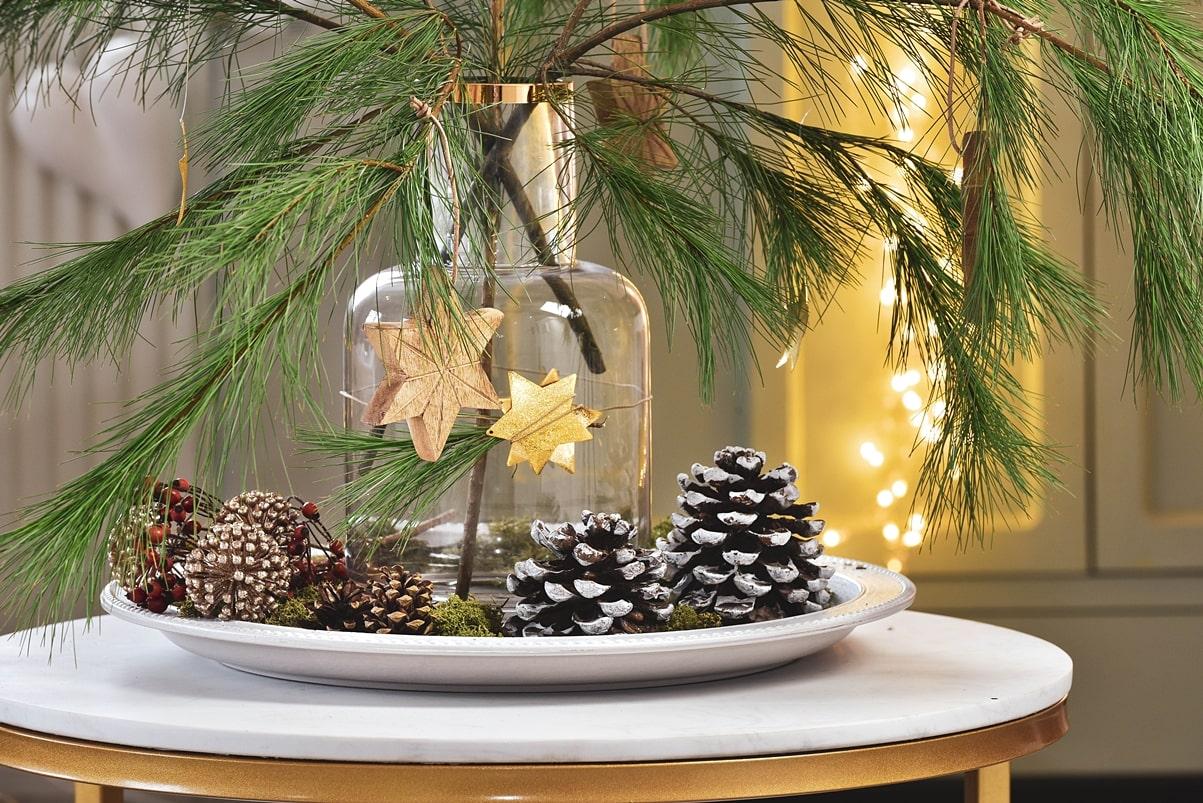 Weihnachtsdeko mit natürlichem Charme.