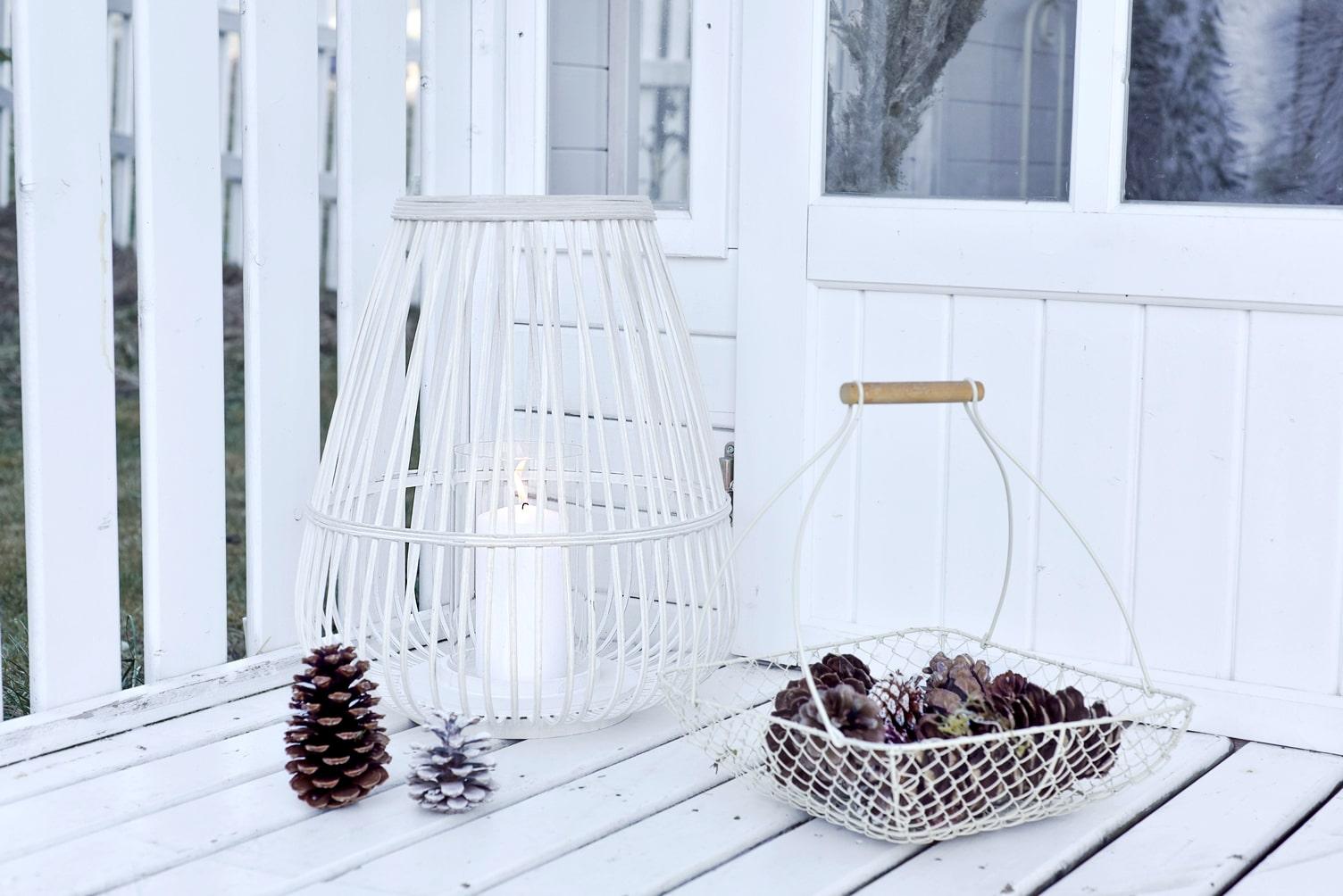Stimmungsvolle Winterdeko für den Garten,