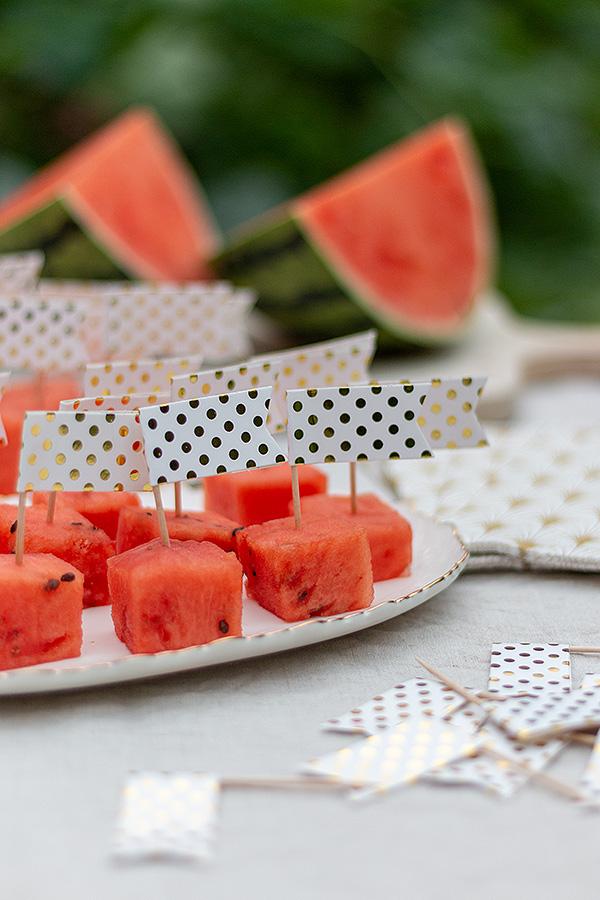 Ideen für Deine Sommerparty: Melone am Spieß