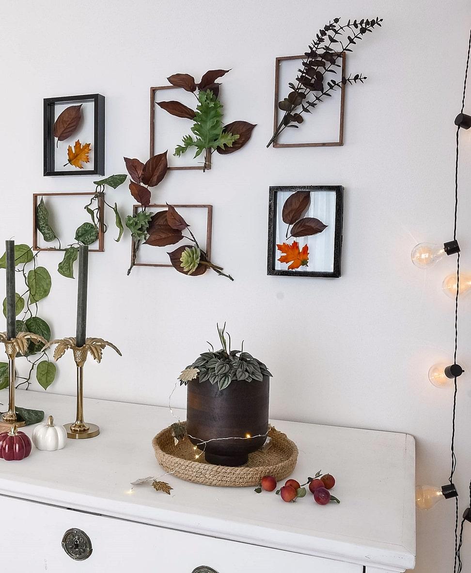 Naturmaterialien für eine gemütliche Herbststimmung