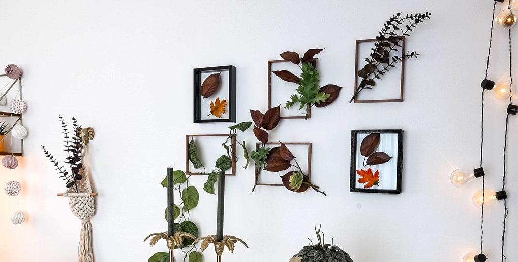 Florale Bilderrahmen als Herbstdeko