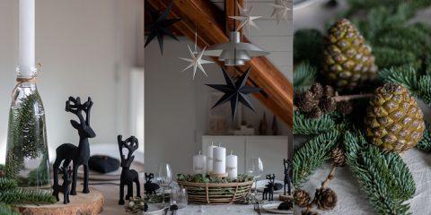 Adventskranz Korb mit Adventstischdeko