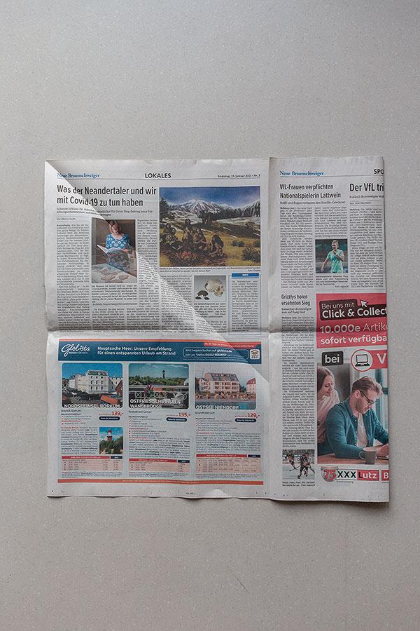 3. Schritt Mülltüten aus Zeitungspapier falten