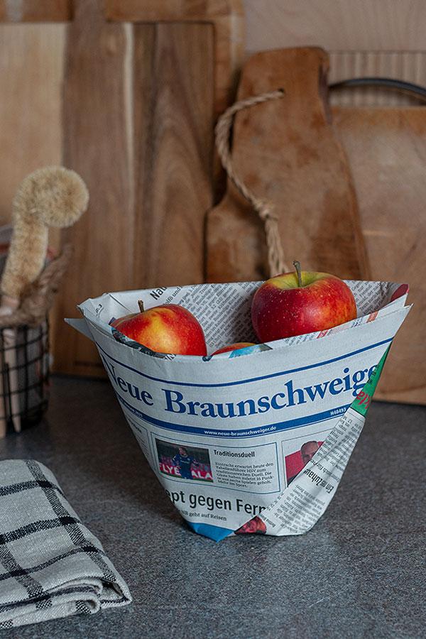 DIY Mülltüten für Nachhaltigkeit in der Küche