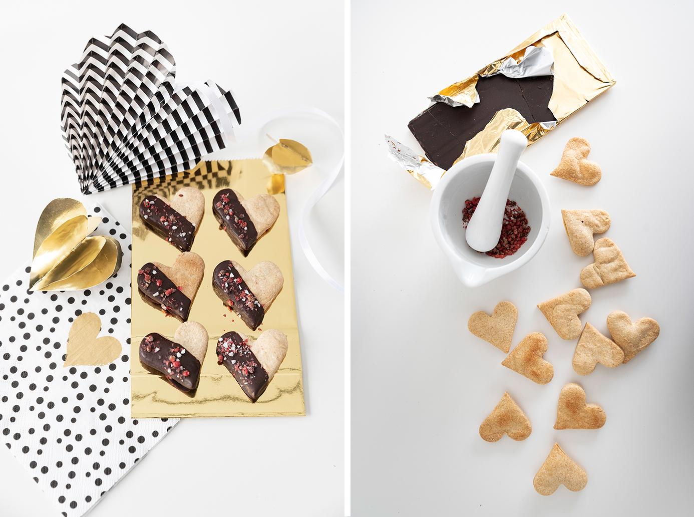 Rezepte für den Valentinstag - süß-herzhafte Plätzchen