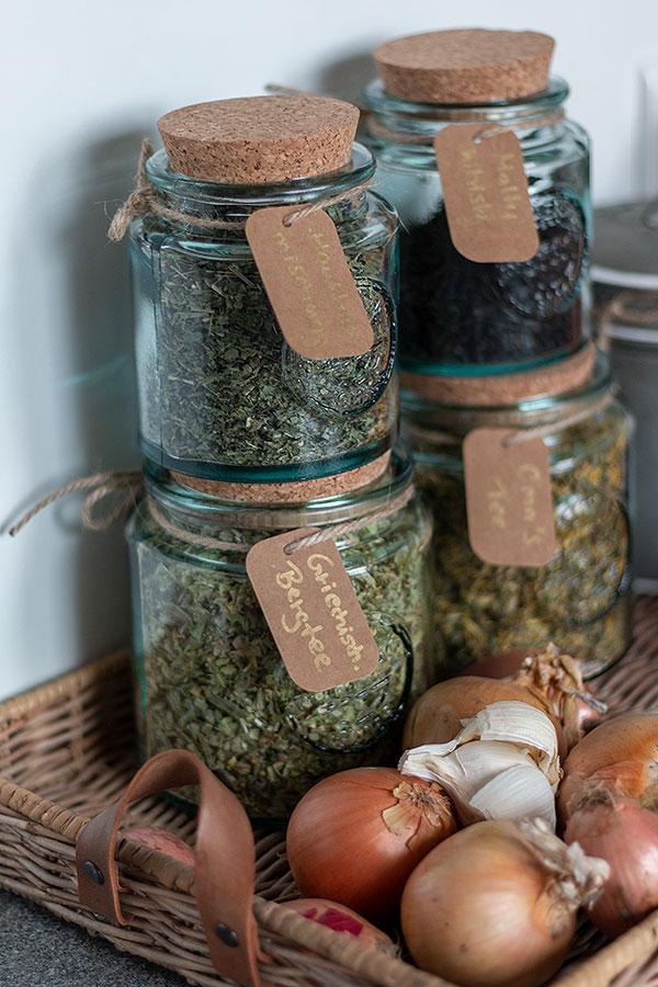 recycelte Glas Vorratsdosen für mehr Nachhaltigkeit in der Küche