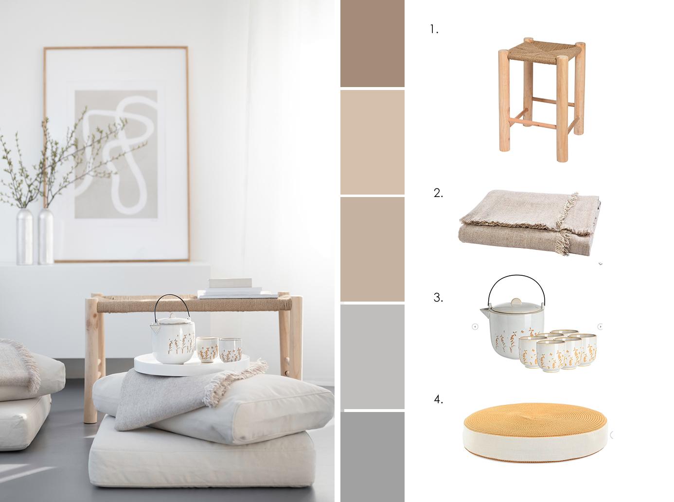 Möbel für einen Meditaionsbereich - wir erklären, wie ihr Achtsamkeit lernt!